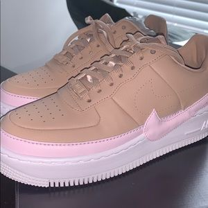 ADORABLE NIKE nude/baby pink Jester Air Force 1
